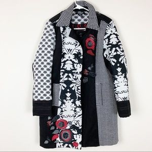 Moka Sport patchwork button down winter coat